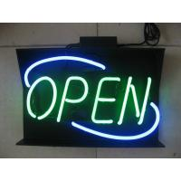 "Wholesale Commercial Blue / Yellow / Red Neon Open Signs 18"" by 14"" AC110 - 130V from china suppliers"