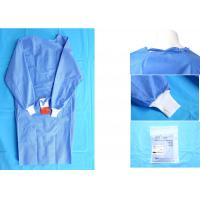 Wholesale Waterproof Blue Medical Disposable Isolation Gown Breathable 48gsm from china suppliers