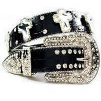 Wholesale factory direct cowgirl cross concho crystal belt from china suppliers