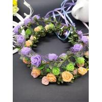 Wholesale Handmade Delicate Head Wreath Wedding Bride Flower Crown Headpiece from china suppliers