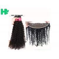Wholesale 100% Human Virgin Hair 13*4 Closure Deep Curly With Baby Hair 8-24 inch from china suppliers