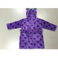 Wholesale Purple Cute Thick Winter Girls Hooded Bathrobes Sleepwear For Children / Kids from china suppliers