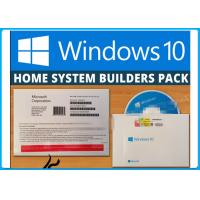 Wholesale Genuine Windows 10 Home 32/64BIT DVD System Builder + OEM COA Licence Key Sticker from china suppliers