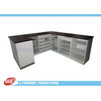 Wholesale Unique Big Size Black / White Shop Cash Counter Table MDF With Multi Layers from china suppliers