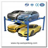 Buy cheap Hot Sale Low Price Four Post Double Car Parking Lift /Four Post Lift Double Wide Side by Side Chinese Manufacturers from wholesalers