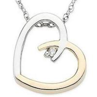 Wholesale White Gold Diamond Heart Pendant from china suppliers