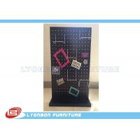 Quality Wallet Display Selling Wooden Display Stands MDF Magnetic Display With Metal Hooks for sale