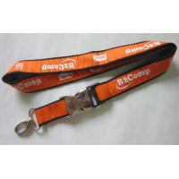 Wholesale Cutom Woven Ribbon Satin Lanyard With Half Metal and Plastic Buckle Release from china suppliers