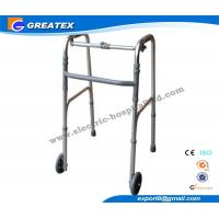 Wholesale Collapsible Aluminum Alloy Rolling Folding Rollator Walker Paddle with Two Castors from china suppliers