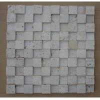 Wholesale Natural Stone Mosaic Chinese Travertine Wall Mosaic China White Travertine Mosaic Pattern from china suppliers
