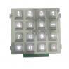 Factory supply white backlight keypad for industry , matrix keypad with 16 keys for sale