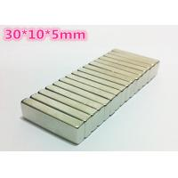 Wholesale Industrial Block Strong Neodymium Magnets Nickel Plated Magnets 30*10*5mm from china suppliers