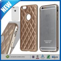 Wholesale Aluminum Metal Bumper Frame iPhone 6 Protective Cases Leather Back from china suppliers