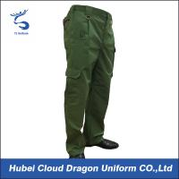 Wholesale Durable 240gsm Army Green Tactical Pants , Military Combat Trousers Shrink Resistant from china suppliers