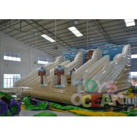 Wholesale White Bounce Inflatable Outdoor Water Slide Rental Amazing For Party from china suppliers
