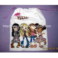 Buy cheap Promotional Candy / Cookies / Chocolate Drawstring Plastic Bags With Cartoon Printing from wholesalers