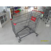 Wholesale Coloful Coating  / Zinc Plating 270L Grocery Store Shopping Cart  For Supermarket from china suppliers