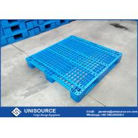 Wholesale HDPE / PP Rack Stackable Plastic Pallet 4 Way / 2 Way Entry With Mesh Three Skids from china suppliers