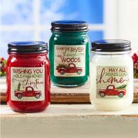 Colorful Soy Wax Wood Wick Scented Jar Candle Clear Glass Candle Jars With Metal Lid