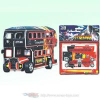 Wholesale 3D Puzzle Bus Pull Back 4 Styles (3DP-2906B) from china suppliers