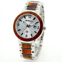 Wholesale Red Sandalwood And Steel mens surf watches , creative wood and metal watch from china suppliers