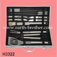 Wholesale BBQ set .BBQ set with case, BBQ grill ,bbq charcoal grill .bbq tool set ,bbq set with apron ,H3322 from china suppliers