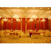 Wholesale Red Sliding Folding Partitions Movable Walls For Exhibition Place from china suppliers