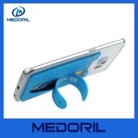 Buy cheap Eco-friendly silicone phone holder 3m sticker smart wallet mobile card holder from wholesalers