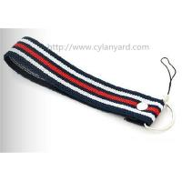 Wholesale Woven wrist strap mobile phone holder lanyard, wrist lanyard with rivet for phone holder, from china suppliers