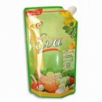 Wholesale Custom Printed PET / VMPET / PE Plastic Spout Packaging Bags For Liquid from china suppliers