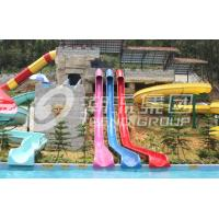 Wholesale Colorful Above Ground Fiberglass Water Slides , Fiberglass Pool Slide for Amusement Park from china suppliers