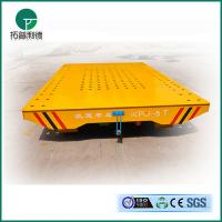 Wholesale Anti-high temperature electric transfer trolley Railway motorised flat trailer applied in painting line from china suppliers