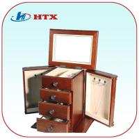 Wholesale Classic Wood Wooden Jewelry Box with Velvet and Mirror from china suppliers