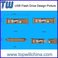 Wholesale Promotion Custom USB Flash Drive Chocolate Bar Design Company Gift from china suppliers