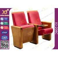 Wholesale Conference Hall / Church Auditorium Chairs Wooden With Folding Writing Table from china suppliers