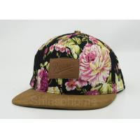 Wholesale Summer Flat Visor Printed Six Panel Baseball Caps For Women 58cm from china suppliers