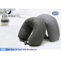 Wholesale Gray Microbeads Car Neck Rest Pillow With Lycra Cover , 100% Polyester Materials from china suppliers