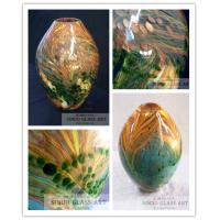 Wholesale High Quality Hand Blown Glass Oval Decorative Vases from china suppliers