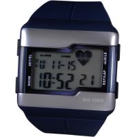 Wholesale Black Waterproof Lcd Blood Pressure Heart Rate Calorie Watch , PU Strap from china suppliers
