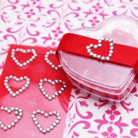 Wholesale Heart shape Rhinestone Mobile Phone Sticker Self-adhesive Rhinestone Stickers for wedding from china suppliers