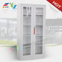 Wholesale LuoYang Two glass door steel cupboard FYD-W018,H1850XW900XD400mm,bule color from china suppliers