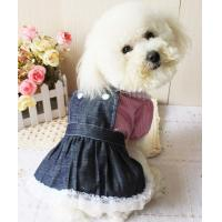 Quality 2012 new style cute dog jean skirt dog clothes for sale