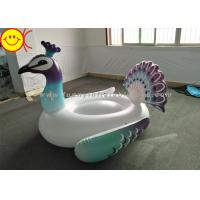 Buy cheap Inflatable Peacock Swimming Pool Floats Ride On Party Tube Giant Raft Lounge Toy from wholesalers