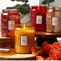 Wholesale Wedding Scented Jar Candle Glass Candle Holder 16 Oz Customized Fragrance from china suppliers