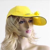 Wholesale factory supplier football team club ODM solar powered cooling fan hat from china suppliers