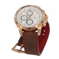 Wholesale Six Hands steel Case Leather Wrist Watch rose gold Plated for Men from china suppliers