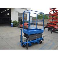 Wholesale Blue Push Motorcycle Scissor Lift  Platform 3 Meter High / 500Kg Loading from china suppliers
