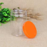 Wholesale PET Food Airtight Stash Clear Plastic Jar With Screw Cap 420ml 550ml from china suppliers