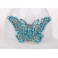 Wholesale Blue Color Costume Jewelry Jewelry Pins & Brooches , Diamond Butterfly Pins And Brooches from china suppliers