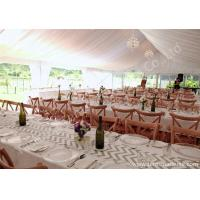 Buy cheap White Lining Adored Aluminum Framed Luxury Wedding Tents , Beach Wedding Marquee from wholesalers